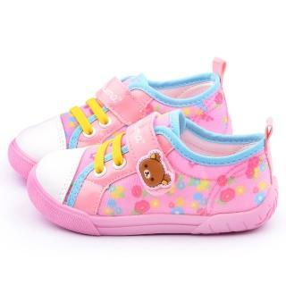 【童鞋城堡】拉拉熊 中童 甜美可愛帆布休閒鞋(KM82018-粉)