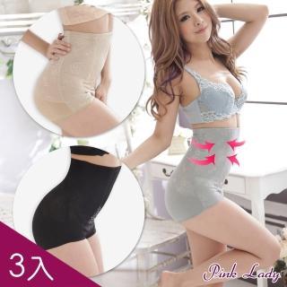 【PINK LADY】緊緻曲線 420丹超高腰魔力機能褲5629(黑+灰+膚)