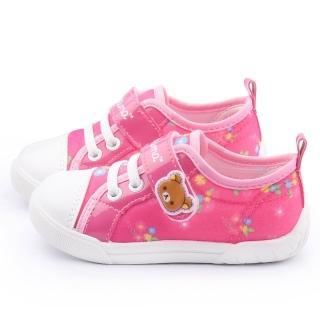 【童鞋城堡】拉拉熊 中童 甜美可愛帆布休閒鞋(KM82018-桃)