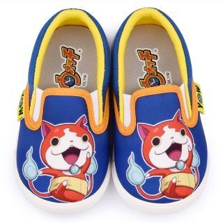 【童鞋城堡】妖怪手錶 中童 可愛懶人休閒鞋(YW8803-藍)