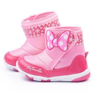 【童鞋城堡】Disney迪士尼 中小童 米妮蝴蝶造型中筒靴(454613-桃)
