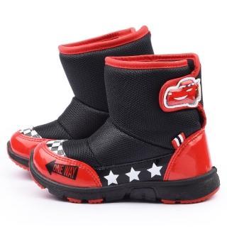 【童鞋城堡】Cars閃電麥坤 中童 帥氣拉風中筒靴(554609-黑)