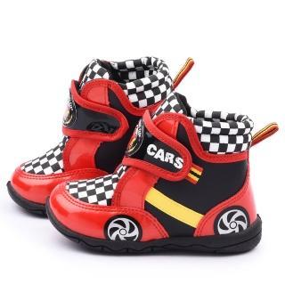 【童鞋城堡】Cars閃電麥坤 中童 酷炫賽車風短筒靴(554611-紅)