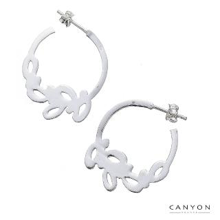 【CANYON】雕花C字耳環