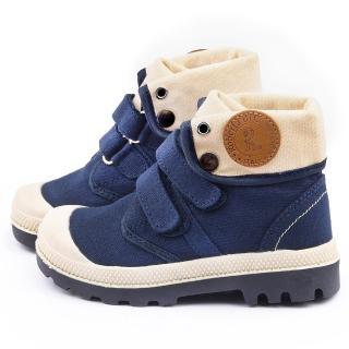 【童鞋城堡】Roberta 中大童 帥氣紳士中筒鞋(615081-藍)