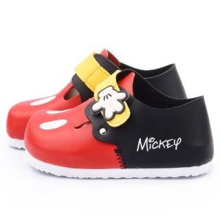 【童鞋城堡】迪士尼 中小童 米奇輕量軟木風格包鞋(453706-黑)