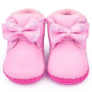 【童鞋城堡】Miffy米菲兔 小童 典雅蝴蝶結短靴(MF-0027-粉)