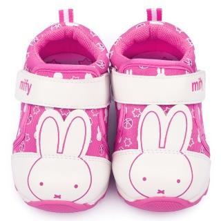 【童鞋城堡】Miffy米飛兔 小童 手工寶寶鞋(MF-0006-桃)