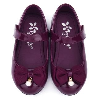 【童鞋城堡】二等兵 中童 典雅珍珠蝴蝶結公主鞋(5609-紫)