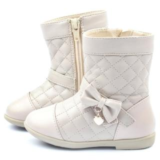 【童鞋城堡】二等兵 小童 英倫簡約格紋短筒靴(5522-杏)