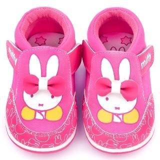 【童鞋城堡】Miffy 小童 立體蝴蝶結休閒鞋(MF-0011-桃)