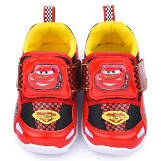 【童鞋城堡】CARS閃電麥坤 中童 造型電燈運動鞋(553069-紅)