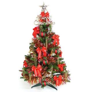 【聖誕裝飾特賣】幸福3尺/3呎(90cm一般型裝飾綠聖誕樹 +飾品組-紅金色系不含燈)
