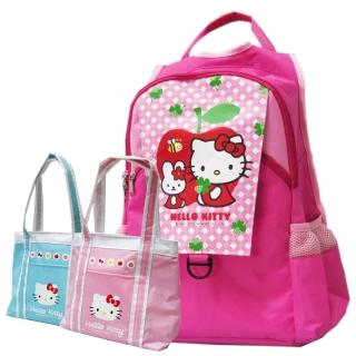【Hello Kitty 凱蒂貓】(1+1)休閒書背包+保溫保冷袋(KT2992apple_3902)