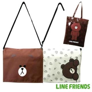 【LINE FRIENDS】(1+1)熊大平板中側包+防水平板套(兩色_LI5425)
