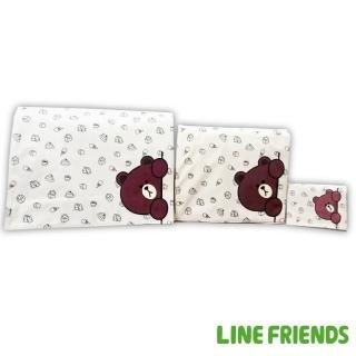 【LINE FRIENDS】1+1+1熊大休閒側包+平板中側包+小側包(咖/米)