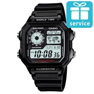 【CASIO】十年之旅數位錶(AE-1200WH-1A)