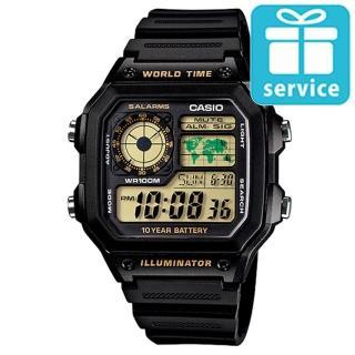【CASIO】十年之旅數位錶(AE-1200WH-1B)