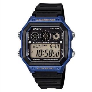 【CASIO】十年電池數位錶(AE-1300WH-2A)