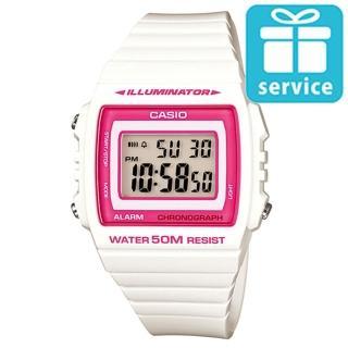 【CASIO】亮眼大螢幕數位錶(W-215H-7A2)