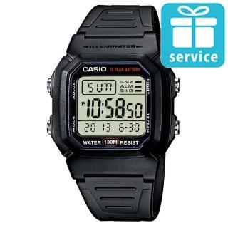 【CASIO】黑極數位電子錶(W-800H-1A)