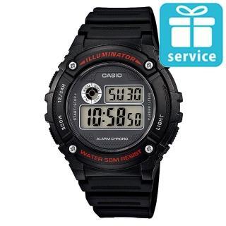 【CASIO】機械設計感電子錶(W-216H-1A)