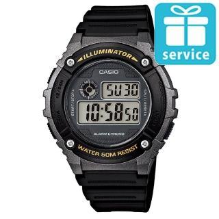 【CASIO】機械設計感電子錶(W-216H-1B)