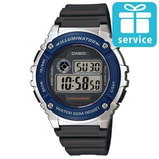 【CASIO】機械設計感電子錶(W-216H-2A)