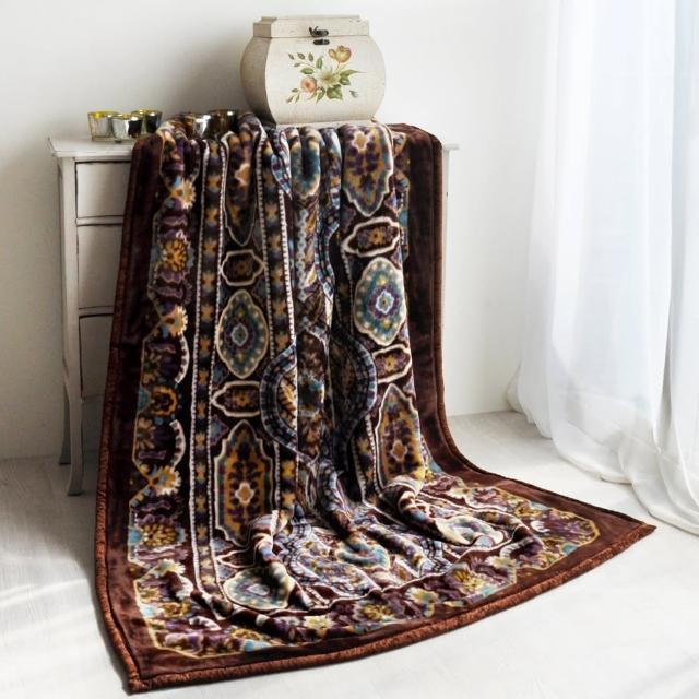 【大阪寢屋川】《米亞皇宮-咖》日製雙層單人毯(140-200CM)