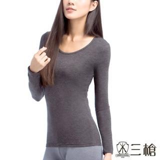 【三槍牌】時尚經典女圓領Q-HEAT超彈性長袖發熱衣(2件組)