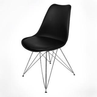 【FUN生活】朵妮拉休閒椅/餐椅/吧檯椅/造型椅/特餐椅(黑色/橙色/紅色)