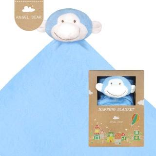 【美國 Angel Dear】大頭動物嬰兒毛毯(藍色小猴)