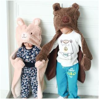 【baby童衣】嬰兒造型披肩 羊羔絨包被 披風 抱毯 50597(共2色)
