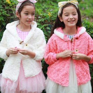 【baby童衣】女童外套 優雅玫瑰牛角釦連帽外套 50605(共2色)