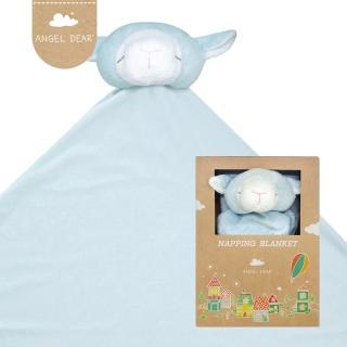 【美國 Angel Dear】大頭動物嬰兒毛毯(藍色小羊)