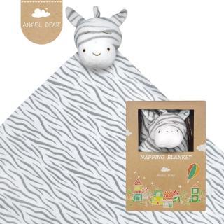 【美國 Angel Dear】大頭動物嬰兒毛毯(黑白斑馬)