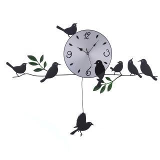 【哇沙米居家】造型掛鐘(田園小鳥)