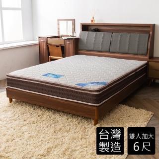 【時尚屋】英式6尺雙人加大雙色三線獨立筒彈簧床墊(GA16-6)