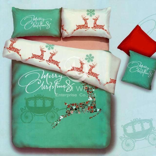【夢幻之旅】加大純棉四件式二用被床包組