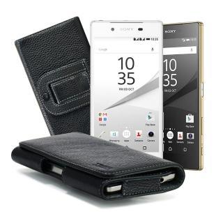 【X_mart】SONY Z5 Premium/SONY Z5 麗緻真皮腰掛皮套