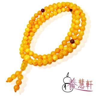 【養慧軒】黃金硨磲 108顆念珠 手鍊(6mm)