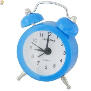 【月陽】色彩繽紛迷你復古造型指針式電子鬧鐘(HL-6635)