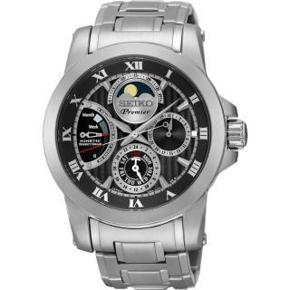 【SEIKO】Premier 人動電能月相腕錶(5D88-0AG0D SRX013J1)