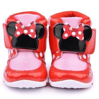 【童鞋城堡】迪士尼 中童 米妮造型輕量中筒靴(454610-粉)
