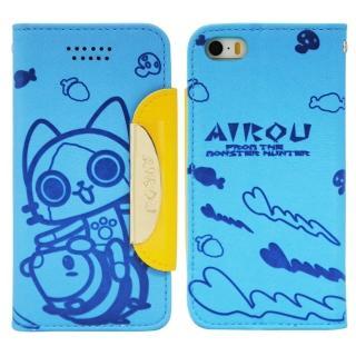 【Aztec】艾路貓 紅米機 掀蓋式皮套 手機殼(大貓藍)
