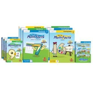 【美國PreSchool Prep】Math Facts 數學系列大全套(練習本/DVD/閃卡/著色本)
