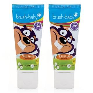 【英國brush baby】幼兒木糖醇牙膏(3-6歲/75mlx2)