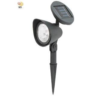 【月陽】可調太陽能充電式自動光控開關3LED庭園燈草坪燈插地燈(5011)