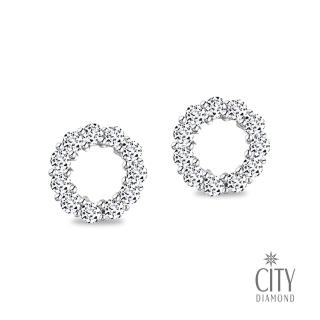 【City Diamond 引雅】皇家甜甜圈(K金耳環)