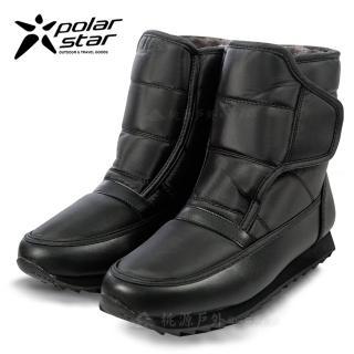 【PolarStar】女 短筒保暖雪鞋│雪靴  黑  P13620(雪鞋)